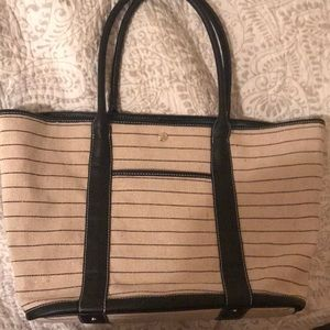 Jack Rogers Striped Canvas Tote Bag